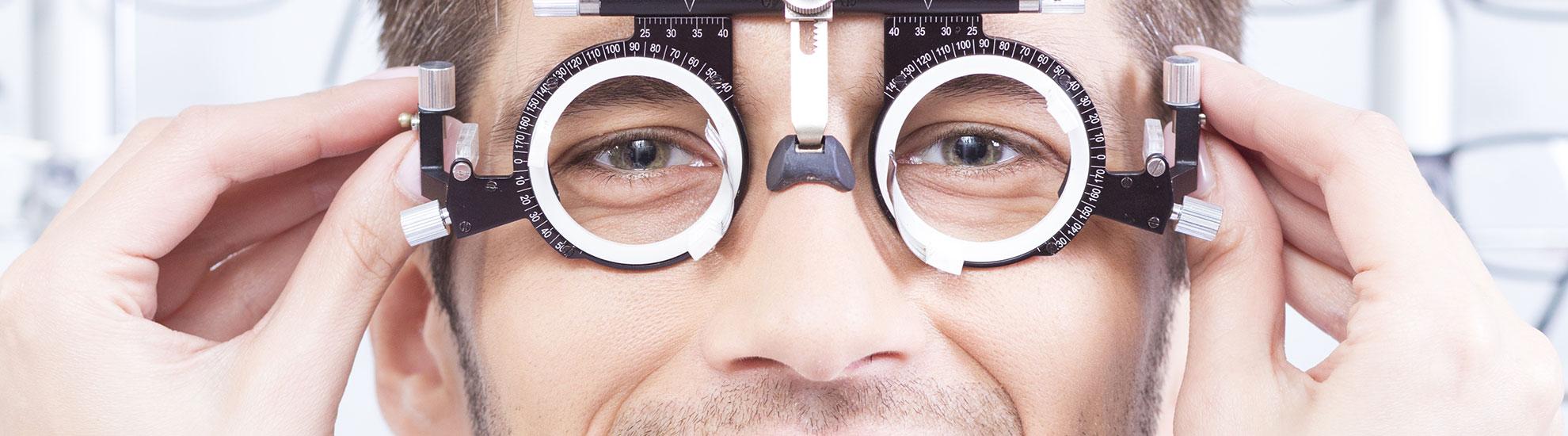 white female pediatric receiving an eye exam